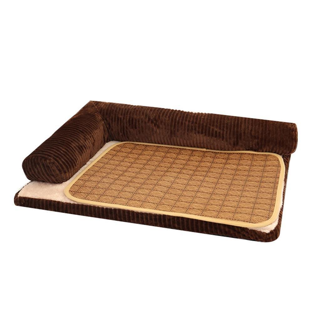 A 685317 A 685317 Daeou Pet mat Washable Kennel Four Seasons Dog Sofa Dog Bed mat Corduroy