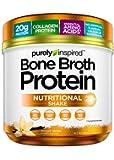 Purely Inspired Bone Broth Protein Powder, 20g Collagen Protein, Essential Amino Acids, No Sugar, No Carbs, Smooth Vanilla, 15 Servings (0.8lbs)