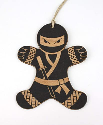Image Unavailable. Image not available for. Color: Black Ninja Gingerbread  Man Christmas Ornament - Amazon.com: Black Ninja Gingerbread Man Christmas Ornament: Handmade