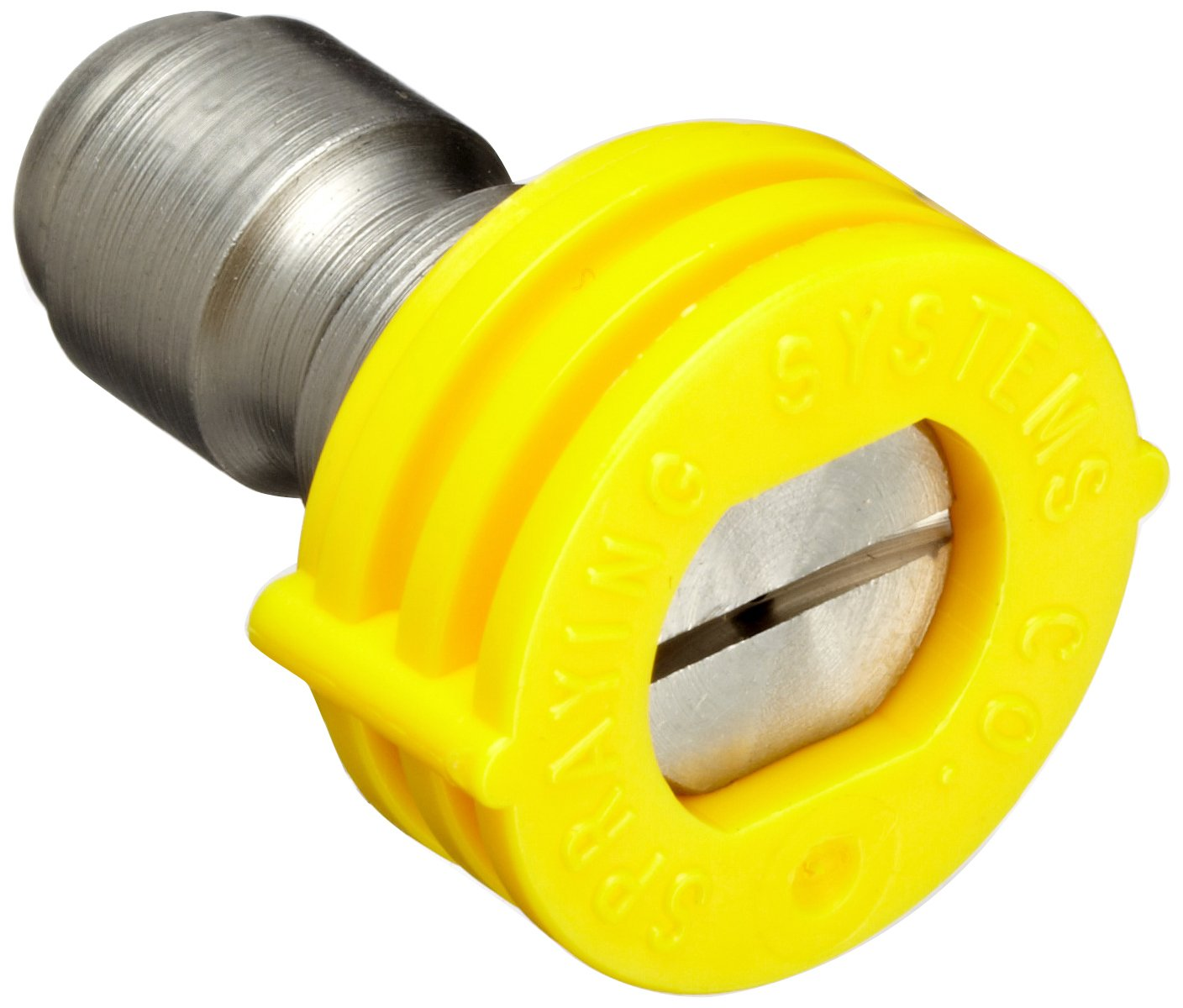 Dixon MSP415 Quick Connect Brass Spray Nozzle 1 4 Straight Plug Yellow