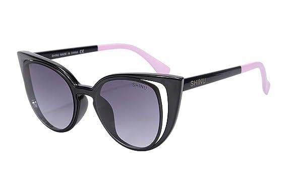 SHINUCateye Top Sonnenbrille UV400 Schutz Eyewear Sonnenbrille der Frauen SH71015(demi gradient brown) l3AS6Qh