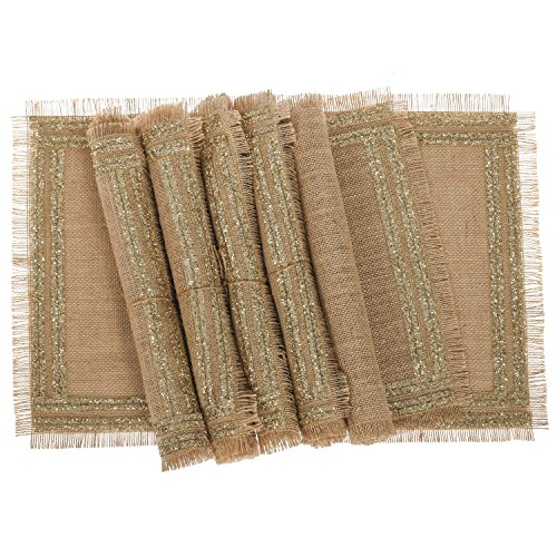 moment Fringed Placemats Champagne Decorations