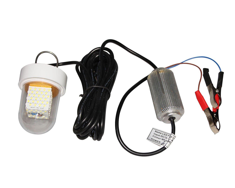 12 V-24 V 60 W bajo el agua cebo pesca LED luz sumergible lámpara de pesca nocturna, color blanco: Amazon.es: Iluminación