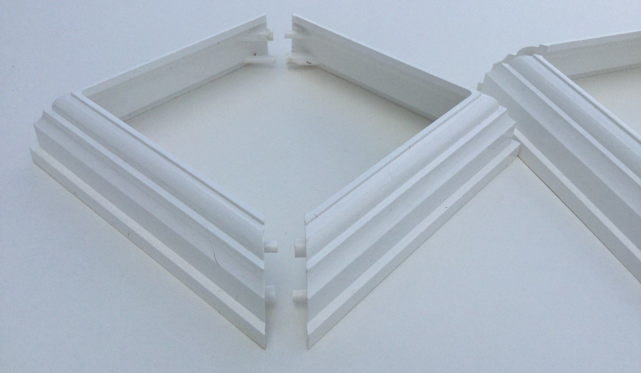 (2-Pack) 2-PIECE BASE/SKIRT/TRIM/COLLAR for 4''X4'' PVC POST