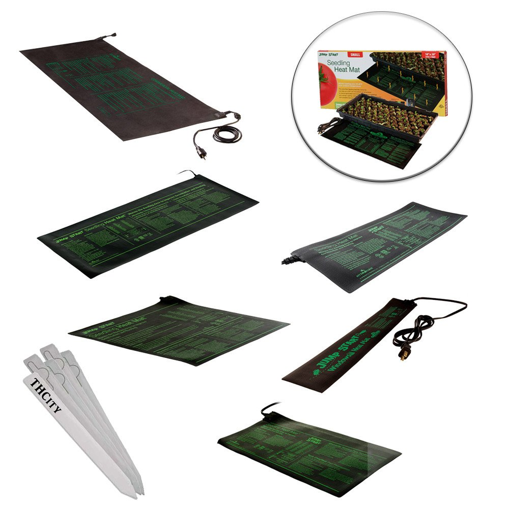 "HYDROPONIC SEEDLING HEAT MAT CLONE PROPAGATION GERMINATION PAD VARIOUS SIZES + THCiTY PLANT STAKES - 60"" X 21"" 140 Watt by Jump Start"