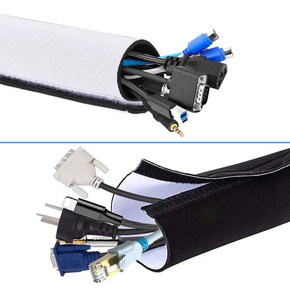 2 m, enchufe extra plano 6A, secci/ón 2 x 0,75 mm2 Velamp PRO10A-FR-2 Alargador el/éctrico color blanco