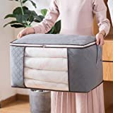 Techtest Non-Woven Quilt Storage Bag 60X37X34 cm Three-Layer Thickening Moisture-Proof Dust-Proof Toy Clothing Finishing Storage Bag Grey (1 Piece) (Storage Bag)