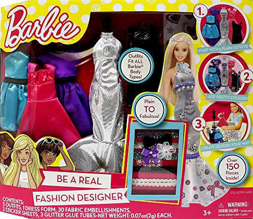 Barbie Be a Fashion Designer Doll Dress Up Kit ()