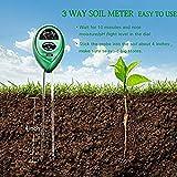 3 in 1 Soil PH Meter plants Flowers Soil Water Light Tester Sensor Monitor for Aquarium Indoor Garden Plant Flowers (No battery Needed)