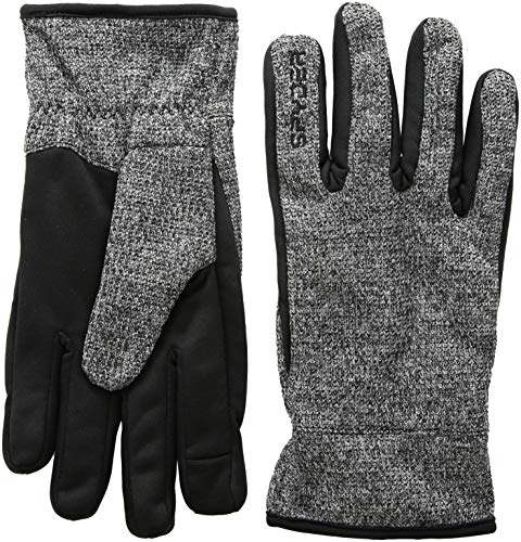 Spyder Men's Bandit Stryke Fleece Glove, Black/Black/Black, Large