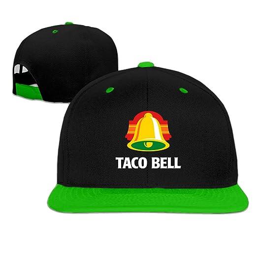Amazon.com  Taco Bell Snapback Baseball cap hip hop hat Green (5 colors)   Clothing 5e73816d361