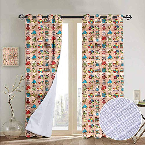 Biltmore Five Light - NUOMANAN Room Darkening Wide Curtains Kids,Toys for Little Children,Light Blocking Drapes with Liner 52