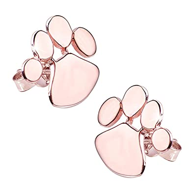 864a30cdf Materia women's stud earrings, paws, rose gold, 925 silver, German  manufacturing #SO-337: Amazon.co.uk: Jewellery