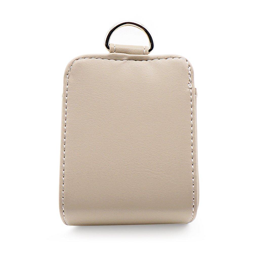 LOCEN Car Air Vent Outlet Pocket Storage Holder Pouch for Phone Debris Keys Sunglasses Pens - Beige