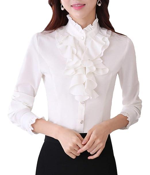 the best attitude b75bf 1830b Camicia Donna Elegante Primaverile Autunno Maniche Lunghe ...