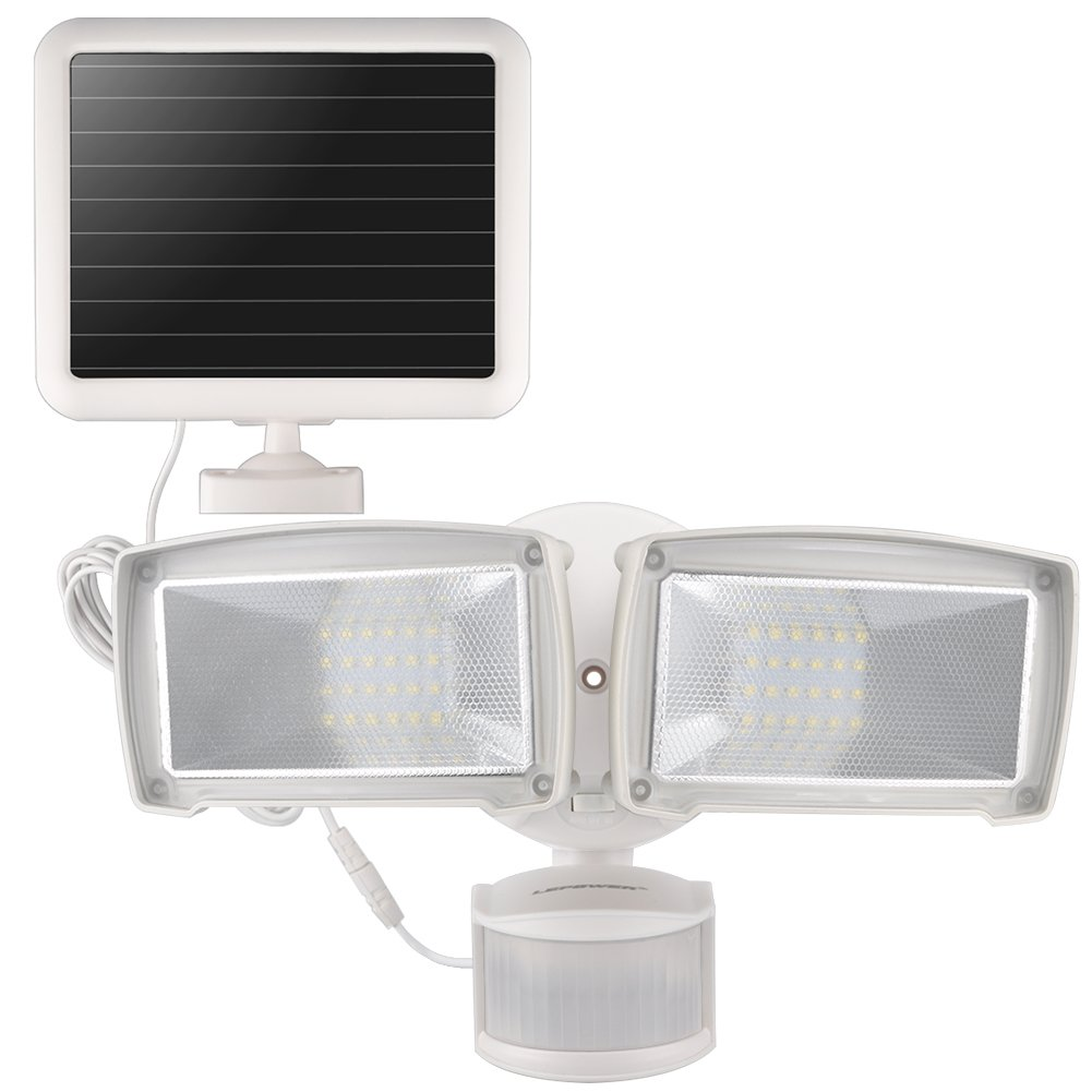 LEPOWER Solar LED Security Light, 950LM Outdoor Motion Sensor Light, 5500K, IP65 Waterproof, Adjustable Head Flood Light with 2 Modes Automatic and Permanent on, for Entryways, Patio, Yard by LEPOWER