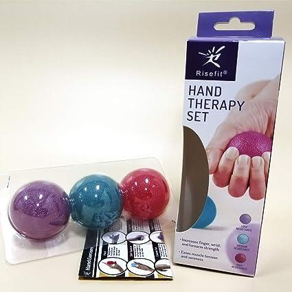 Juego de pelotas de mano terapéuticas, para fortalecimiento de ...
