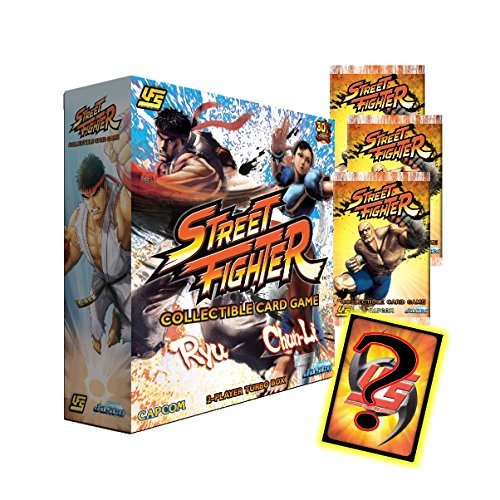 Ufs Booster Box (UFS Street Fighter 2017 Collectible Card Game 2-Player Bundle Ryu vs Chun-Li 3 Booster Packs 2-Starter Deck Turbo Box w/2 Ultra Rares & Clasic UR or Promo Foil Universal Fighting System)