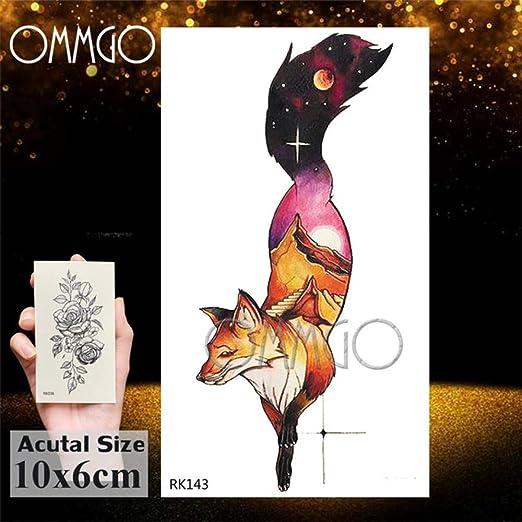 5Pcs- Fox Lobo tribal del tatuaje para los hombres Las mujeres ...