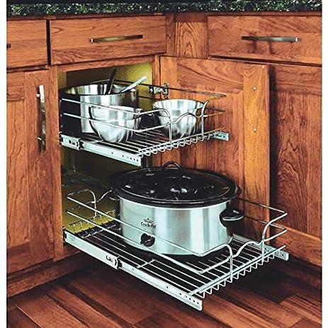Amazon.com: Rev-A-Shelf 2-Tier Pull-Out Cabinet Organizer: Kitchen ...