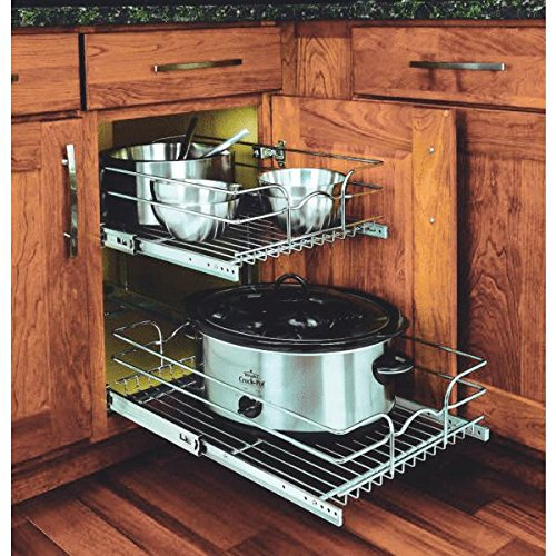 Rev-A-Shelf 2-Tier Pull-Out Cabinet Organizer 59-15C-2-5