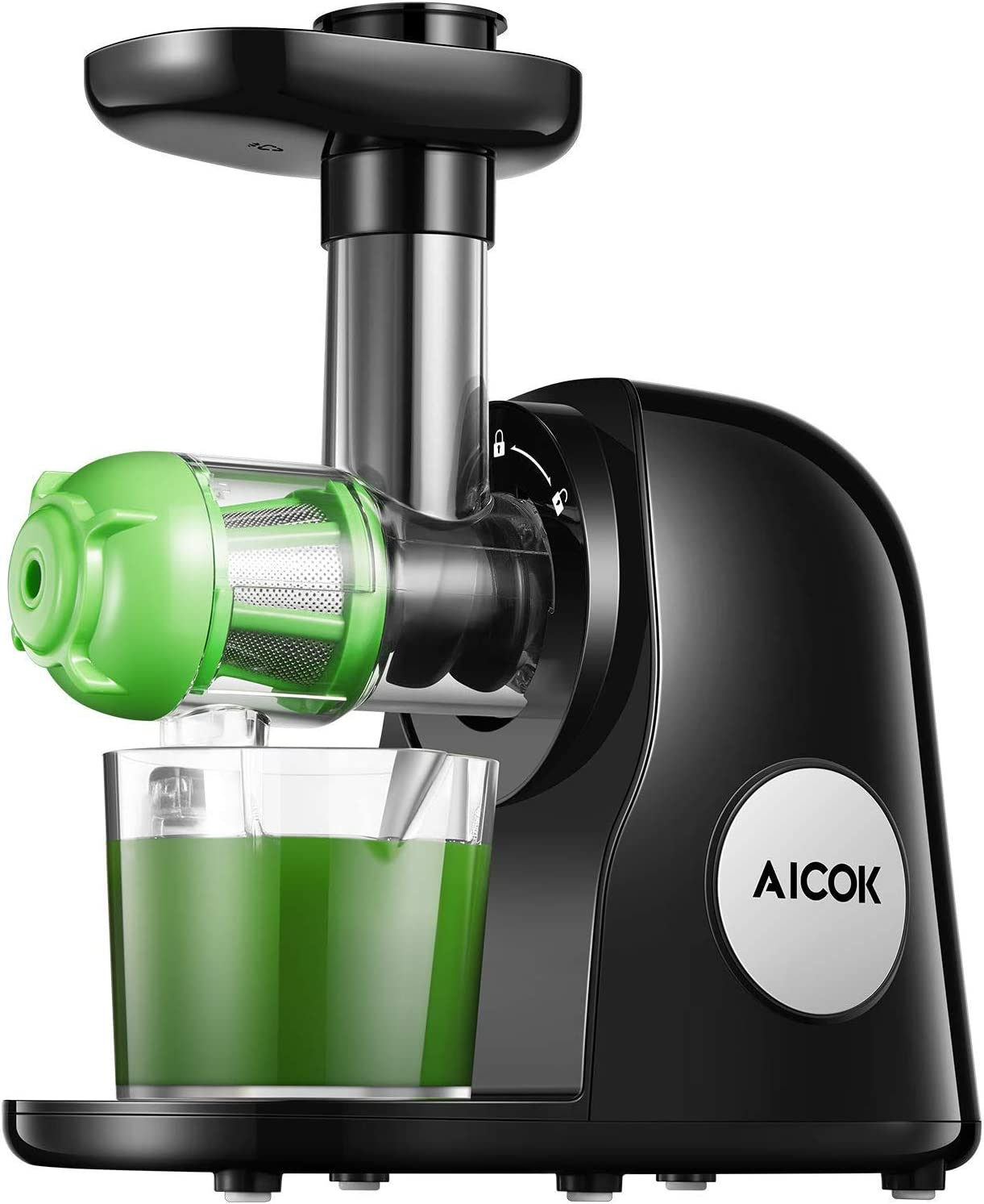 Aicok Juicer Machines, Slow Masticating Juicer Extractor,
