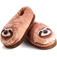 Sloth Lounge Slippers Plush, Brown