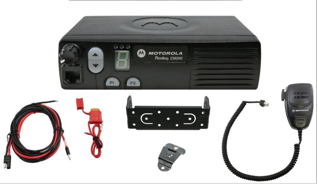 Motorola Original CM200 AAM50RPC9AA1AN Mobile UHF Transceiver 438-470 MHz High Power 40 Watts 4 Channels