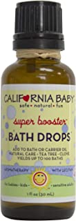 product image for California Baby Super Booster Bath Drops for Kids | 100% Plant Based (excludes water)| Aromatherapy Essential Oils with Lecithin Natural Safflower | Calming, Relaxing Bedtime Support for Baby or Adult