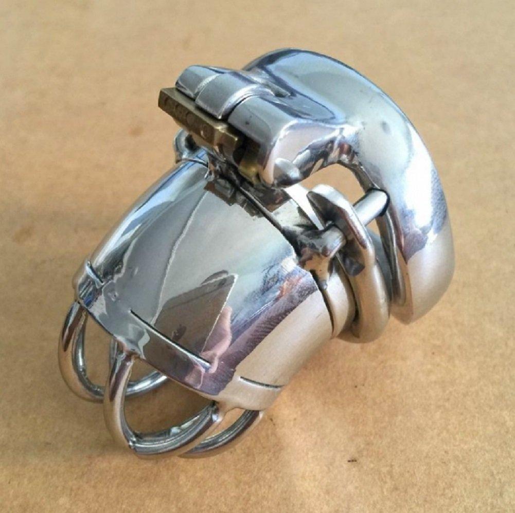Cinturón de castidad Cinturón de castidad, cerradura de castidad, castidad, de jaula de pene, irritación de ojo de caballo, con anillo de prevención de antidesgaste, dispositivo de castidad, con catéter 55205b