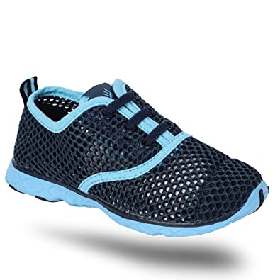 63c716821efc hiitave Kids Quick Drying Water Shoes Boys Girls Athletic Sneakers for  Beach Swim Pool Blue