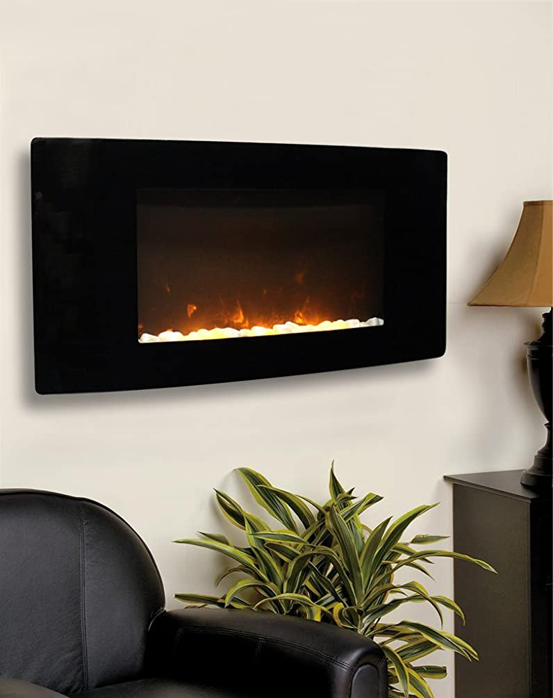 paramount barcelona curved wall mount electric fireplace amazon