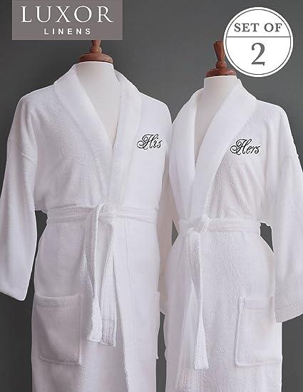 Amazon.com  Luxor Linens Terry Cloth Bathrobes - 100% Egyptian ... c0eb1c8d0