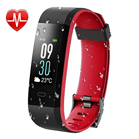 KARSEEN Fitness Tracker, Activity Tracker IP68 Waterproof Fitness Watch Heart Rate Monitor Colorful OLED Screen