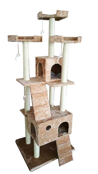 "iPet 71"" Cat Tree Condo Five Tier Scratcher Cat Furniture Pet House Cat Exercise Tree"