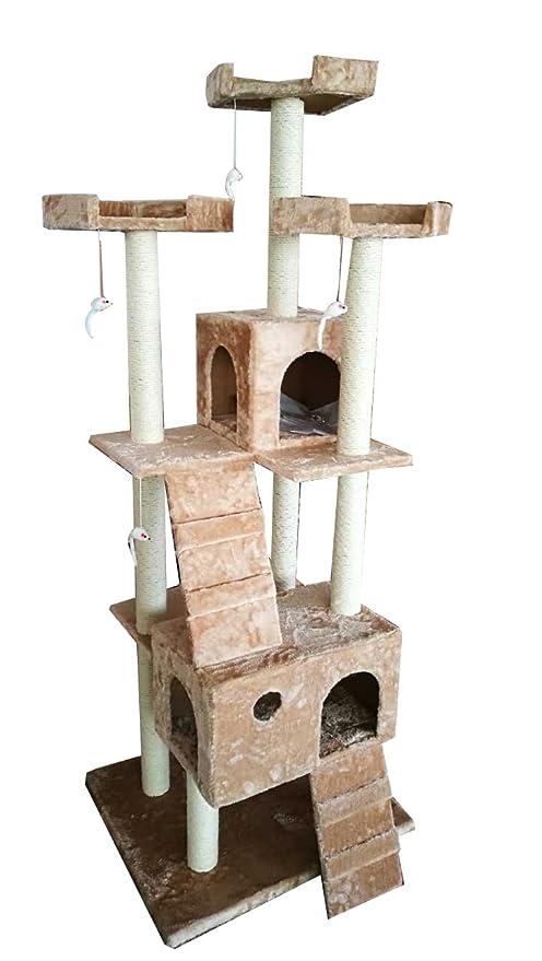 JoPet - Árbol para gatos, para gatos, con rascador de cinco pisos, para