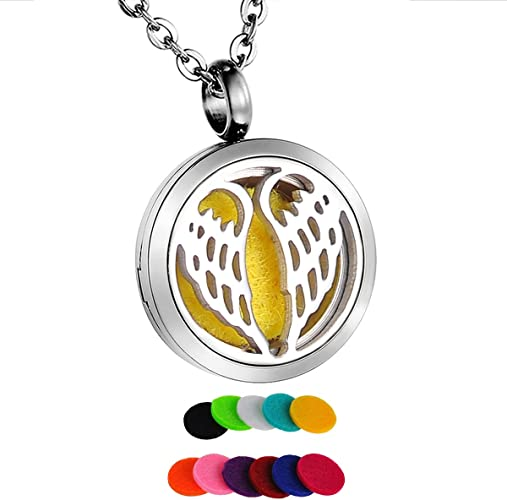 HooAMI Aromatherapy Essential Oil Diffuser Locket Bracelet Leather Band with 11 Color Pads,Sunflower