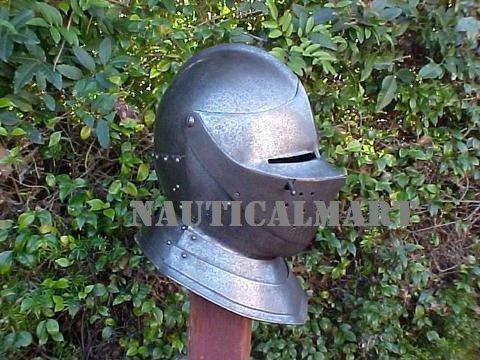 Medieval European Close Armor Helmet By Nauticalmart