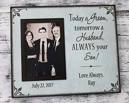 Wedding picture frame personalized, today a groom tomorrow a husband, father of the groom gifts personalized wedding gifts