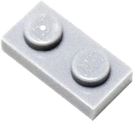 Light Gray Lego Parts and Pieces Medium Stone Grey 2x2 Tile x200