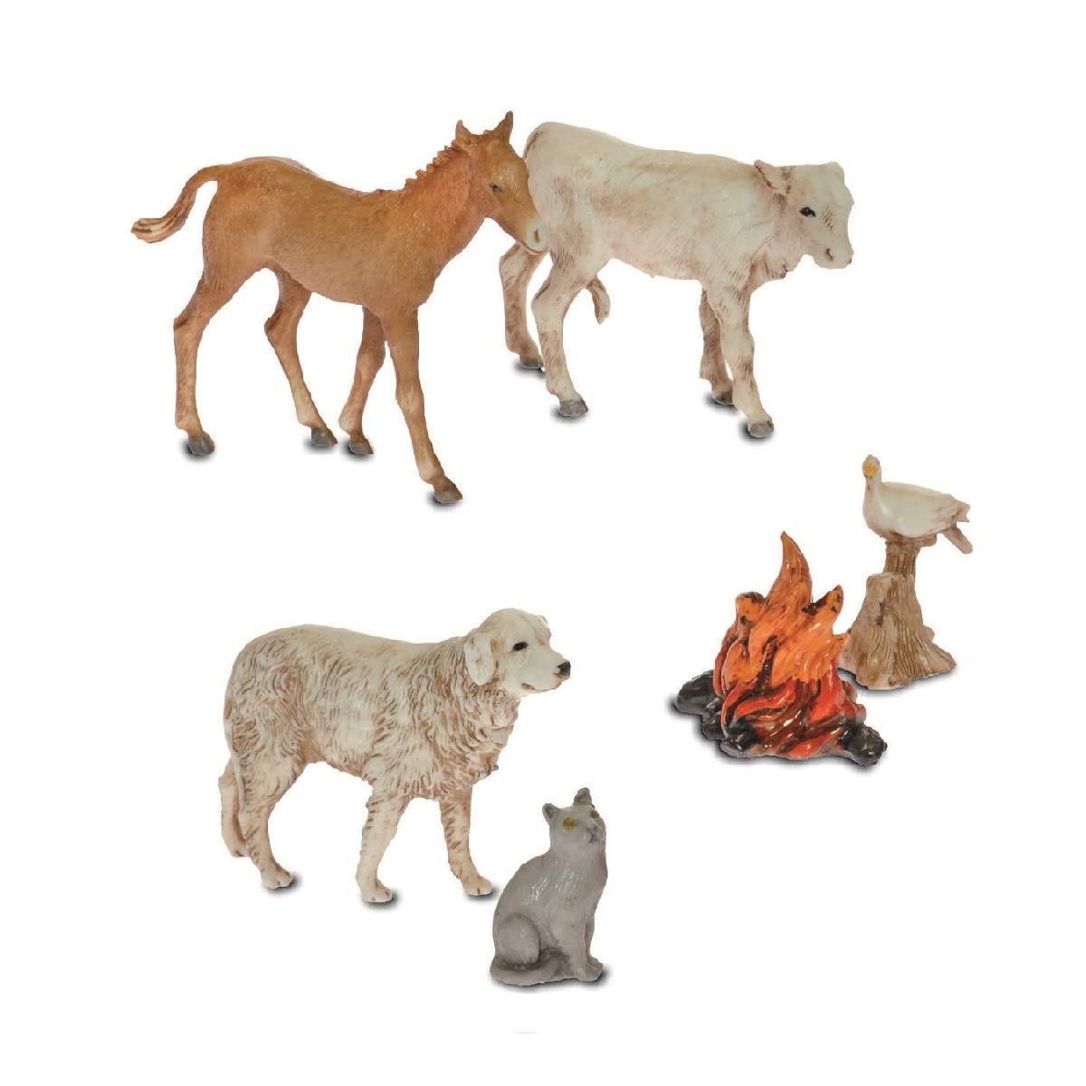 Moranduzzo 5 Animali e Un Fuoco, 10 cm Argenplast S.r.l. 426101100