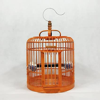 XCJ Jaula de Pájaros - Jaula de Pájaros de zorzal de bambú - Jaula ...