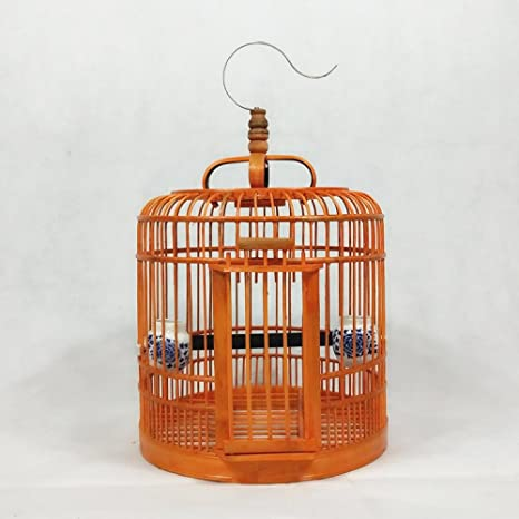 BCX Jaula de pájaros - Jaula de pájaros de zorzal de bambú - Jaula ...