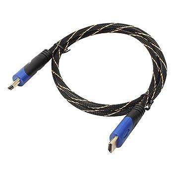 Nereids Red Nylon trenzado Cable HDMI Cable HDMI de alta velocidad macho a macho con ethernet