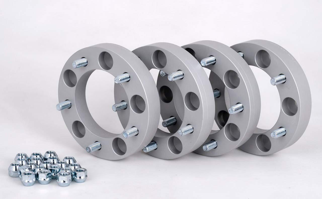 Lot de 4 /élargisseurs de voie en aluminium 30 mm par rondelle // 60 mm par axe avec expertise T/ÜV