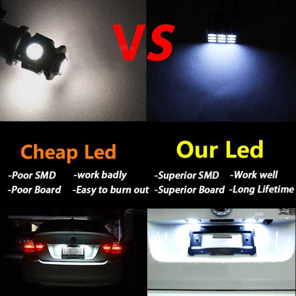 Pack de 2 taben T10/168/194/2825/bombillas LED 3030/Chipset para coche interior c/úpula mapa puerta salpicadero luces de cortes/ía