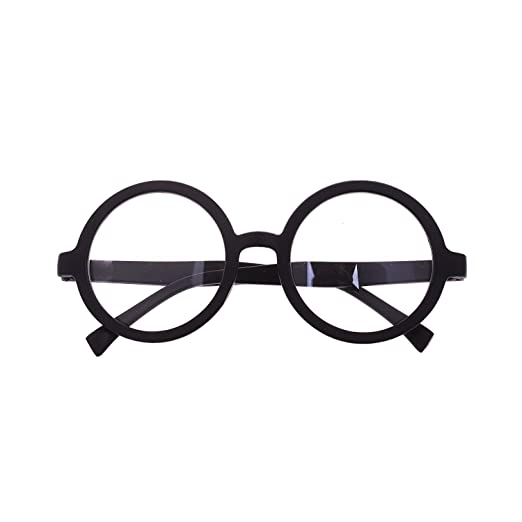 Amazon.com: Harry Potter Style Plastic Black Frame Circle Round ...