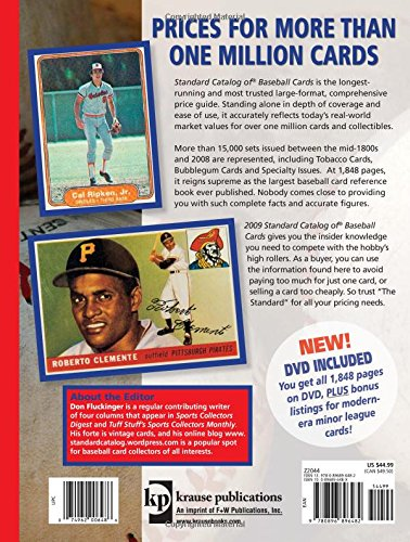 Galleon 2009 Standard Catalog Of Baseball Cards Standard Catalog