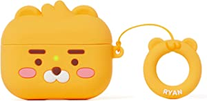KAKAO FRIENDS Official- Little Friends Silicone AirPods Pro Case with Finger Ring, Compatible with Apple AirPods Pro (Ryan)