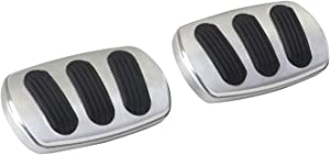 Lokar BAG-6140 Billet Aluminum Curved Manual Brake/Clutch Pad with Rubber